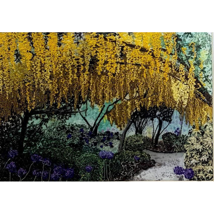 Lyn Leech Original Art Laburnum Arch, Willoughbridge by Lyn Leech