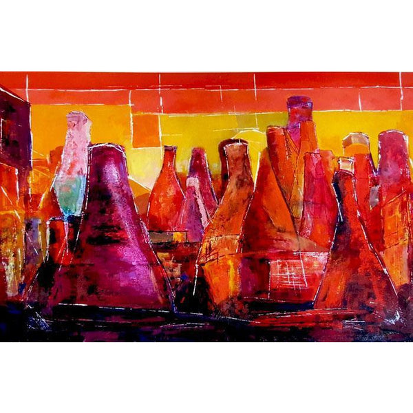 Micheal Pritchard Print PH057 - Bottle Ovens by Micheal Pritchard Micheal Pritchard Potteries Print Collection