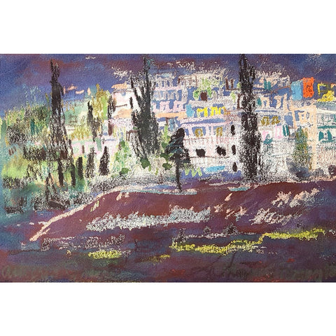 Muriel Pemberton Original Art Athens Greece by Muriel Pemberton