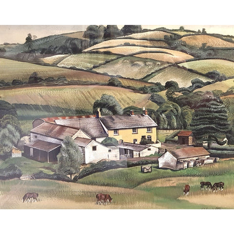 Farm Yard by Muriel Pemberton | Original Art by Muriel Pemberton | Barewall Art Gallery