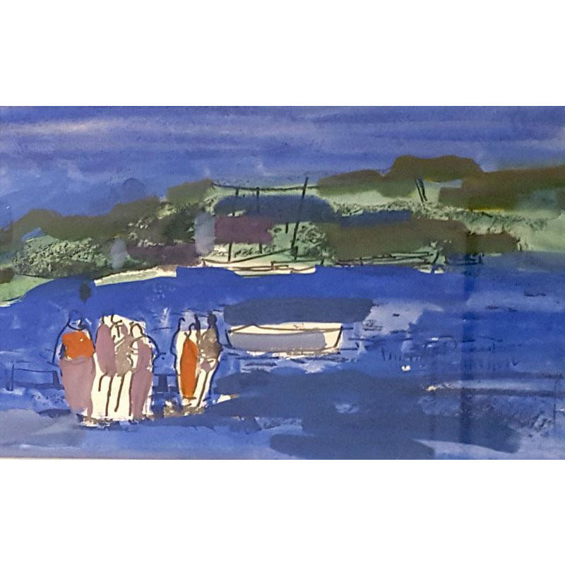 Figures and Boats by Muriel Pemberton | Original Art by Muriel Pemberton | Barewall Art Gallery