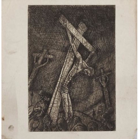 An etching of Christ on the Cross 1943 by Norman Cope | Original Art by Norman Cope | Barewall Art Gallery