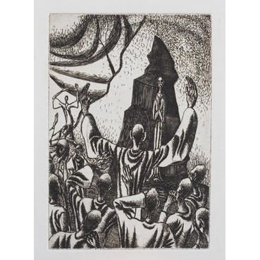 An etching of Christ's Resurrection 1943 by Norman Cope | Original Art by Norman Cope | Barewall Art Gallery