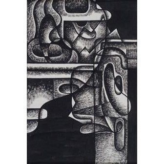 Norman Cope Original Art The Psychologist (abstract) 1943 by Norman Cope