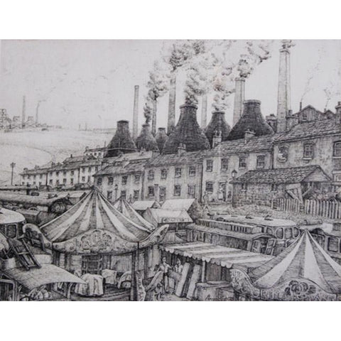 Norman Cope Print Black Country Fair Print by Norman Cope