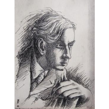 Norman Cope Print Portrait of a Fellow Student 1942 Print by Norman Cope