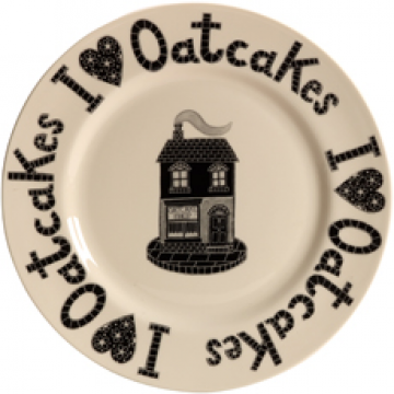 I Love Oatcakes Plate by Moorland Pottery