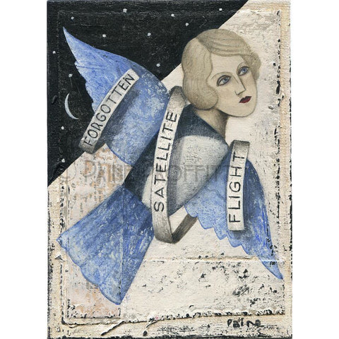 Paine Proffitt Original Art Forgotten Satellite Flight by Paine Proffitt
