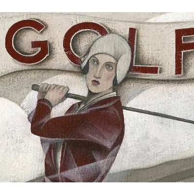 Paine Proffitt Original Art Golf by The Sea by Paine Proffitt