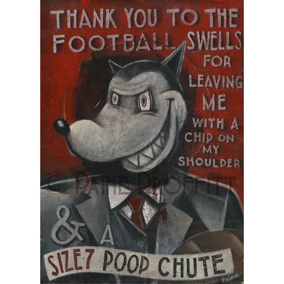 Paine Proffitt Original Art Size 7 Football Swells by Paine Proffitt (Disgraced Cosmonaut)