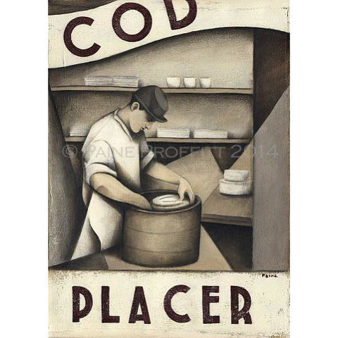 Paine Proffitt Print Mounted Cod Placer Print Ltd Edition Signed by Paine Proffitt
