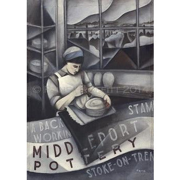 Paine Proffitt Print Middleport Pottery Back Stamper Print by Paine Proffitt