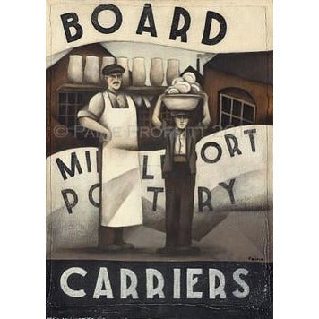 Paine Proffitt Print Middleport Pottery Board Carriers Print by Paine Proffitt
