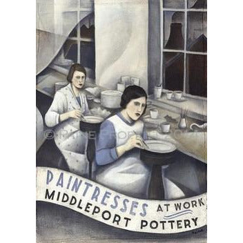 Paine Proffitt Print Middleport Pottery Paintresses Print by Paine Proffitt