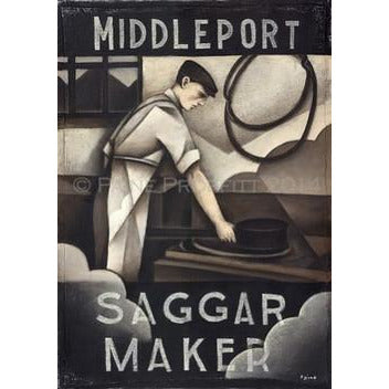 Paine Proffitt Print Middleport Saggar Maker Print by Paine Proffitt
