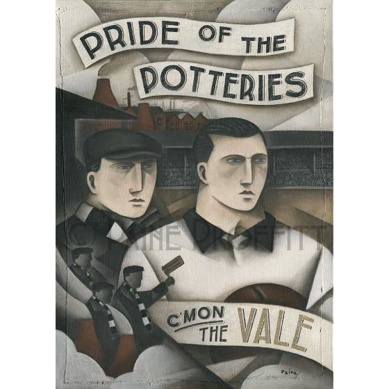 Paine Proffitt Print Port Vale Heros and Bottle Kilns Limited Edition Football Print by Paine Proffitt