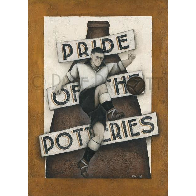 Paine Proffitt Print Port Vale Pride of The Potteries Limited Edition Football Print by Paine Proffitt