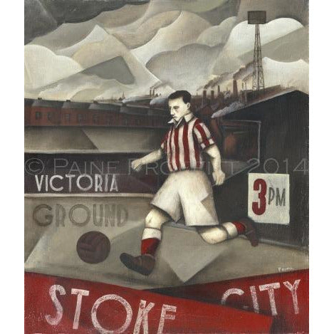 Paine Proffitt Print Stoke City Glory Days at Victoria Limited Edition Football Print by Paine Proffitt