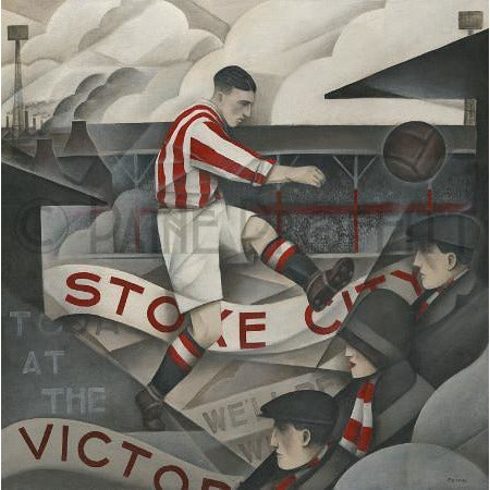 Stoke City Memories of The Victoria Limited Edition Football Print by Paine Proffitt