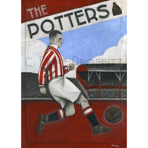 Stoke City The Potters Limited Edition Football Print by Paine Proffitt