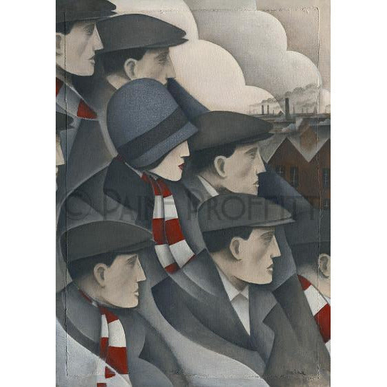 Paine Proffitt Print Stoke City Victoria Crowd Limited Edition Football Print by Paine Proffitt
