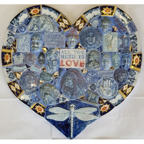 Blue Heart by Philip Hardaker | Ceramics by Philip Hardaker | Barewall Art Gallery