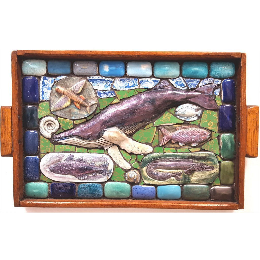 Philip Hardaker Ceramics Sea Life Tray by Philip Hardaker