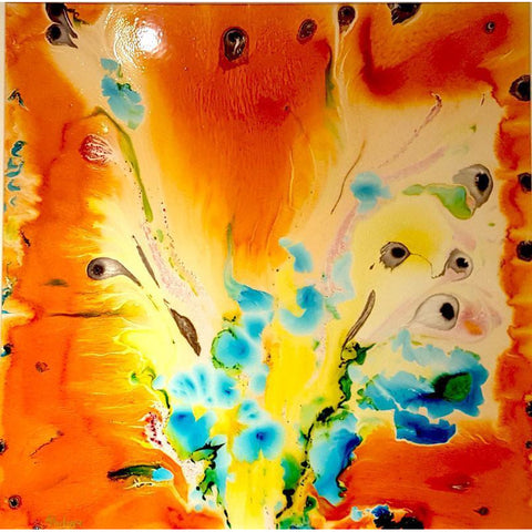 Philippe Aird Original Art Orange Series V by Philippe Aird