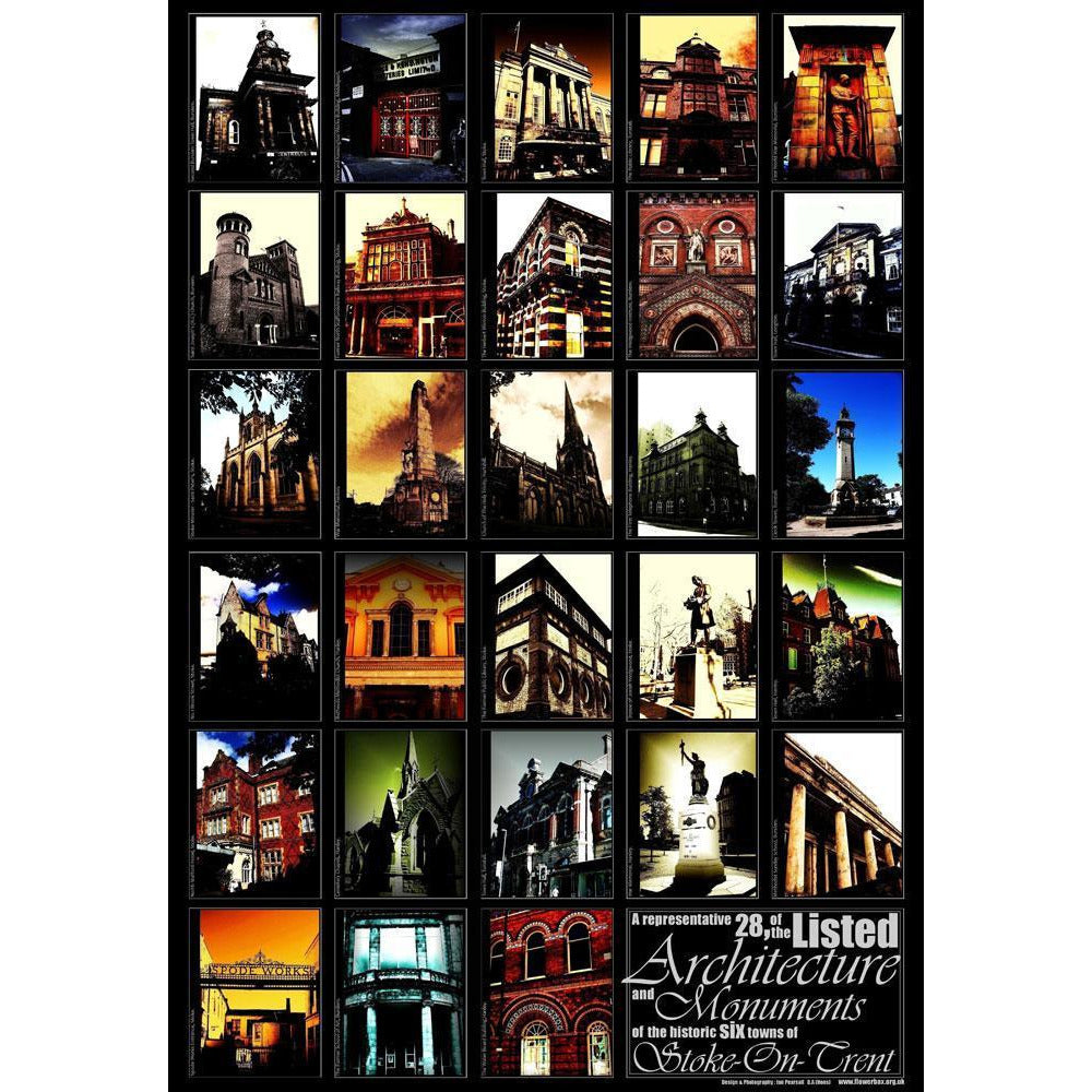 28 Listed Buildings of Stoke on Trent Print by Ian Pearsall | Print by Photography | Barewall Art Gallery