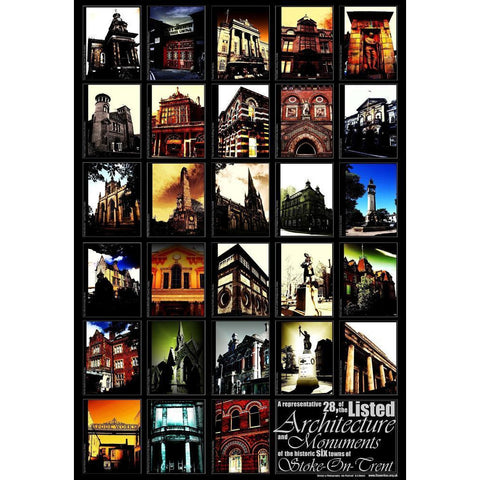 Photography Print 28 Listed Buildings of Stoke on Trent Print by Ian Pearsall