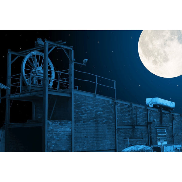 Photography print Moon over Apedale Coal Mine Moon over the Potteries Collection by Richard Howle