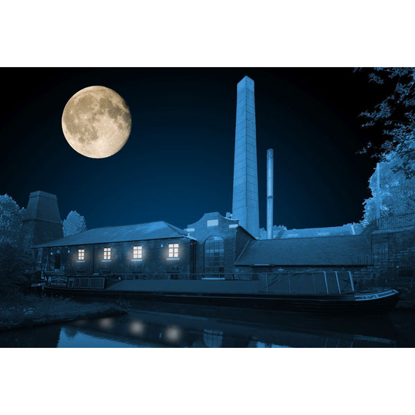 Photography print Moon over Bone Mill Etruria Moon over the Potteries Collection by Richard Howle