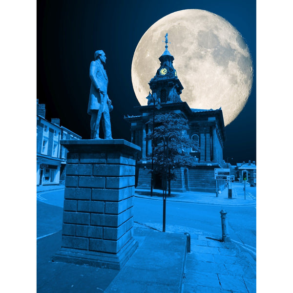 Photography print Moon over Burslem Town Hall Moon over the Potteries Collection by Richard Howle