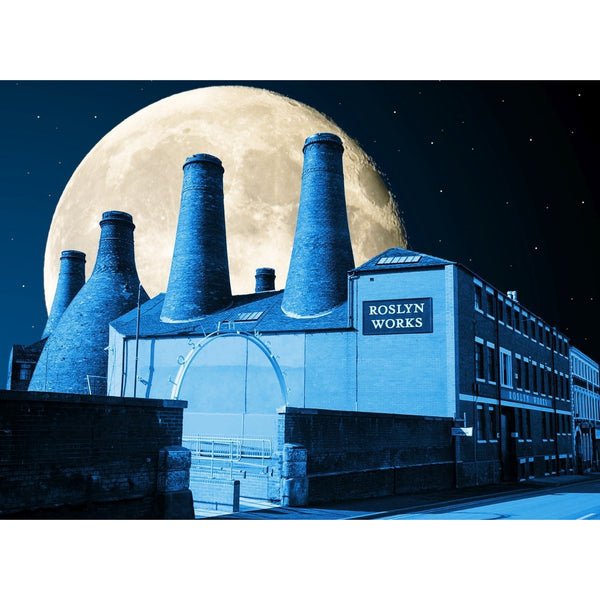 Photography print Moon over Gladstone Pottery Moon over the Potteries Collection by Richard Howle