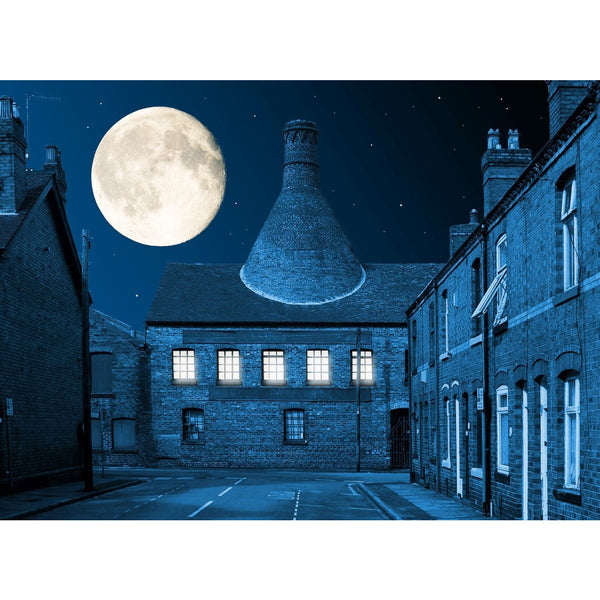 Photography print Moon over Heron Cross Pottery Moon over the Potteries Collection by Richard Howle