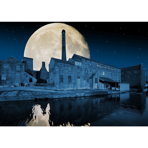 Photography print Moon over Middleport Pottery Moon over the Potteries Collection by Richard Howle