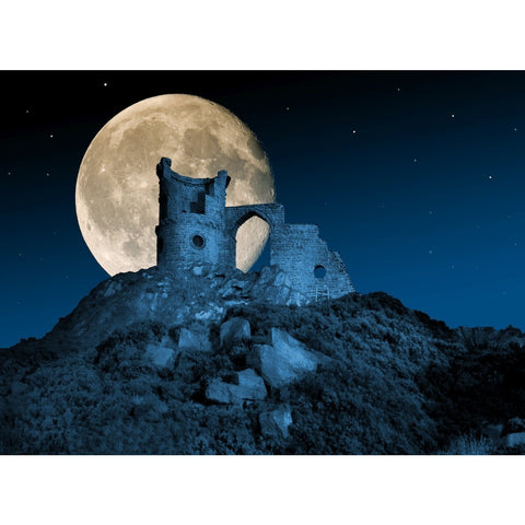 Photography print Moon over Mowcop Moon over the Potteries Collection by Richard Howle