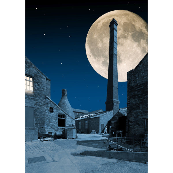Photography print Moon over Pot Bank Yard Moon over the Potteries Collection by Richard Howle