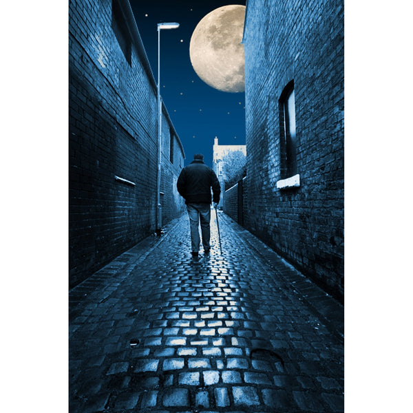 Photography print Moon over the Backs Moon over the Potteries Collection by Richard Howle