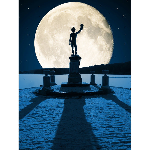 Photography print Moon over Trentham Moon over the Potteries Collection by Richard Howle