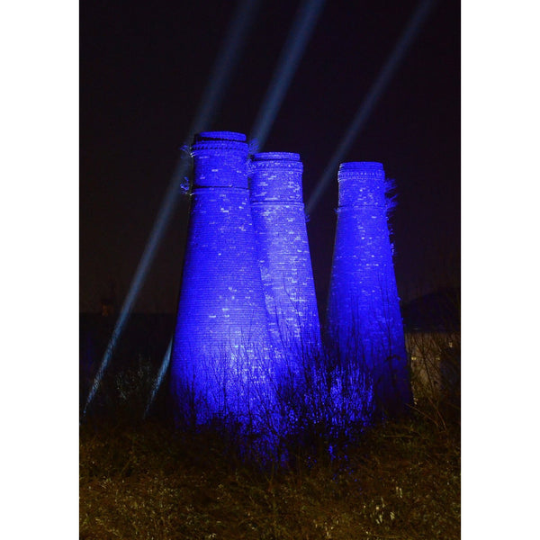 Photography print Light Night SOT: 3 Sisters Bottle Kilns Stoke on Trent Light Night Print Collection by Richard Howle