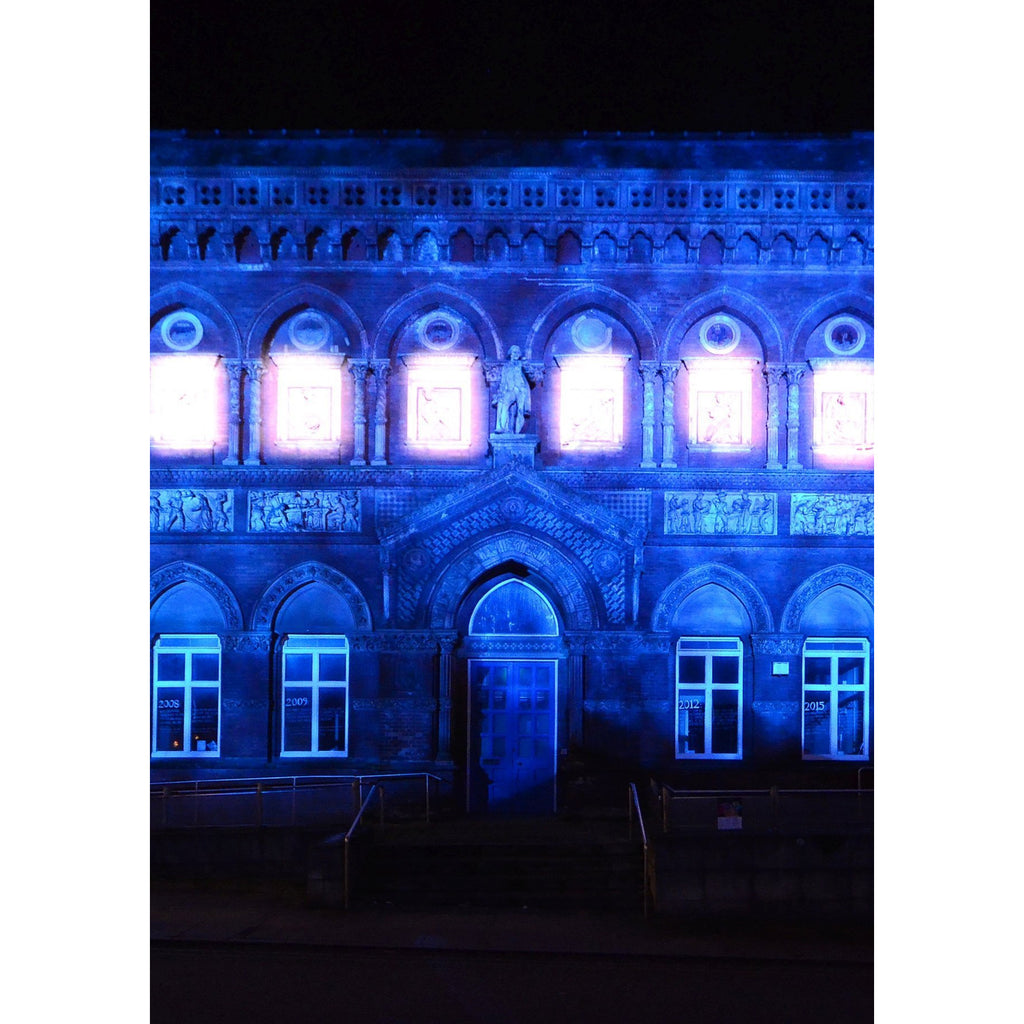 Photography print Light Night SOT : Wedgwood Institute Stoke on Trent Light Night Print Collection by Richard Howle