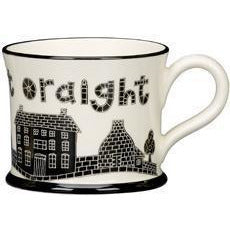 Ay Up Ow At Oraight Mug by Moorland Pottery | Gift by Potteries Gifts | Barewall Art Gallery