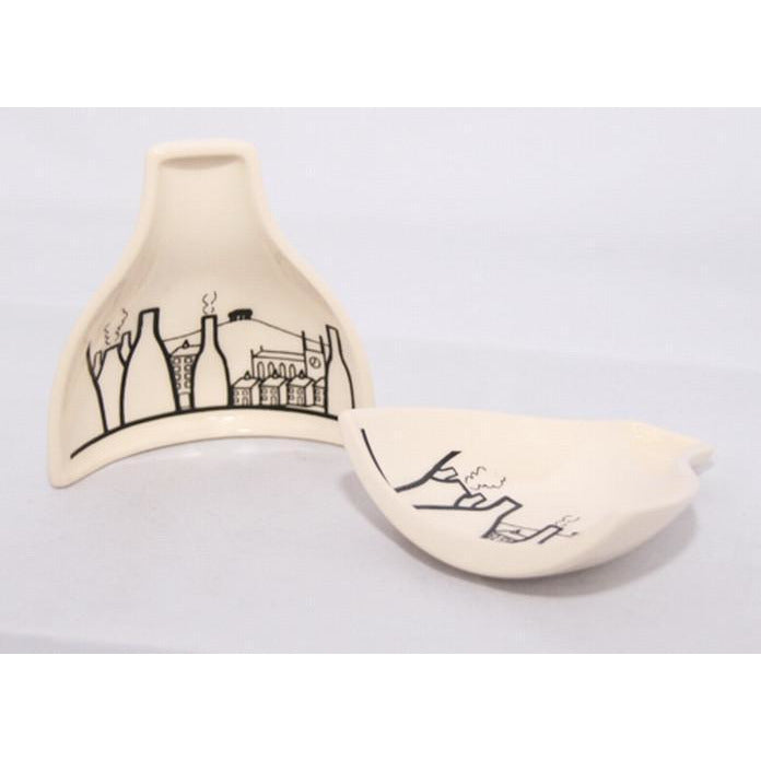 Bottle Oven Spoon Rest by Nathan Smallman | Gift by Potteries Gifts | Barewall Art Gallery