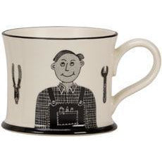 Grandad Can Fix Owt Mug by Moorland Pottery | Gift by Potteries Gifts | Barewall Art Gallery