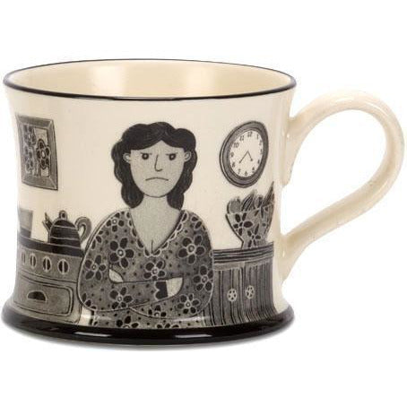 Grumpy Old Woman Mug by Moorland Pottery | Gift by Potteries Gifts | Barewall Art Gallery
