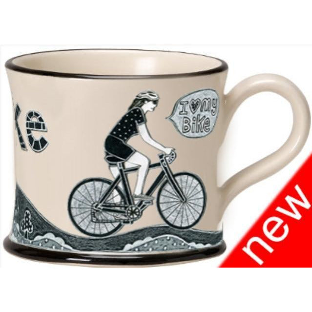 Potteries Gifts Gift I Love Me Bike Mug - (Female) by Moorland Pottery