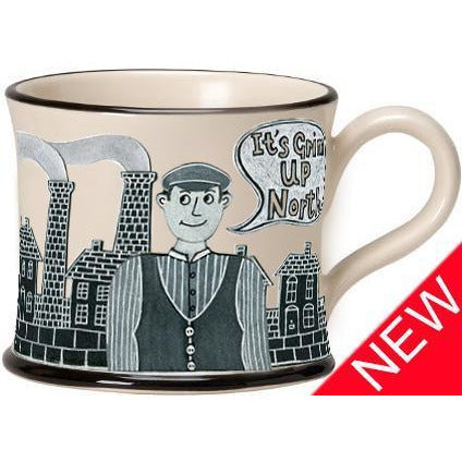 Potteries Gifts Gift Its Grim Up North Mug by Moorland Pottery