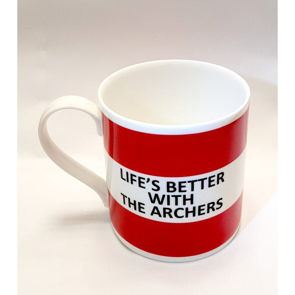 Potteries Gifts Gift Life's Better with the Archers Fine Bone China Mug by The Pot Bank