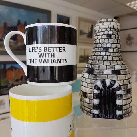 Potteries Gifts Gift Black Life's Better with the Valiants Mug by The Pot Bank